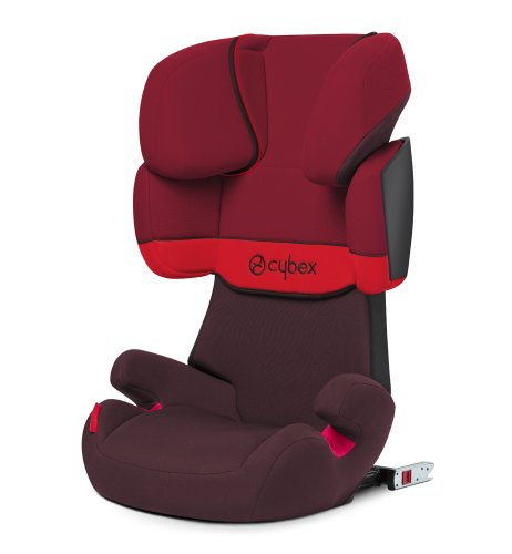 Cybex Solution X-Fix - Silla de coche, grupo 2/3 (15-36 kg, de 3 a 12 años aproximadamente), con Isofix, color Rumba red